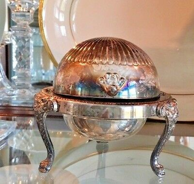 Vintage Silver Plate Butter Dome Dish F.B Rogers Silver Co 273 - 1883