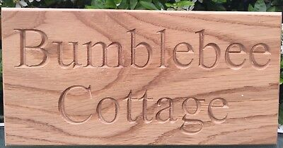 Personalised Solid Oak Outdoor Custom House 3 Sizes Engraved Sign Wooden Gift