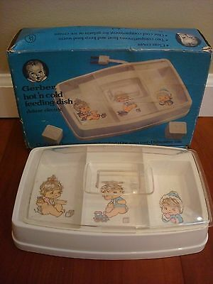 Gerber Baby Tray Hot 'n Cold Feeding Dish Deluxe Electric Model 3718