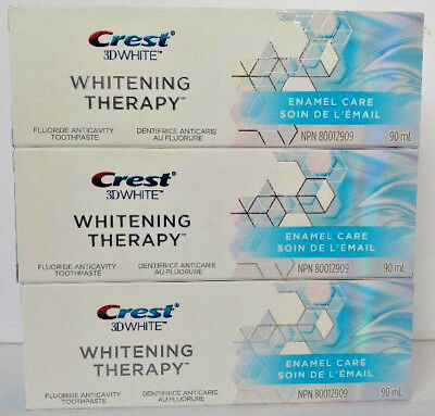 3x Crest 3D White Whitening Therapy Enamel Care Fluoride Toothpaste Long Expiry!