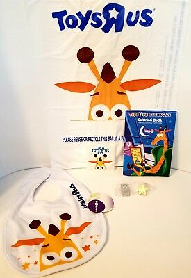 Geoffrey Babies R Us baby bib, New Authentic - Collectible