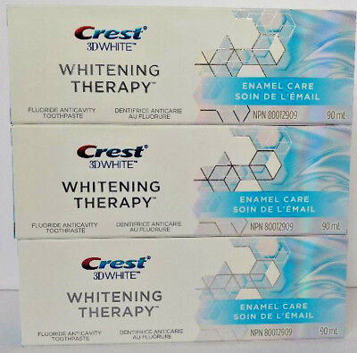 3x Crest 3D White Whitening Therapy Enamel Care Fluoride Toothpaste ON SALE!