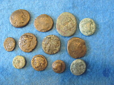 Fantastic RARE Lot of (12) Greek coins 3rd -1st cent. B.C.