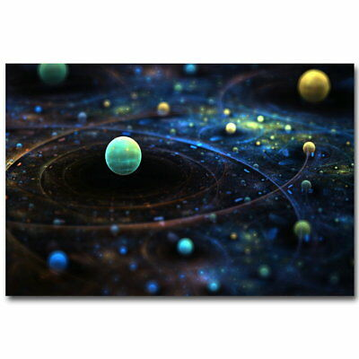 136244 Our Solar System Psychedelic Milky Way Universe Wall Print Poster Affiche