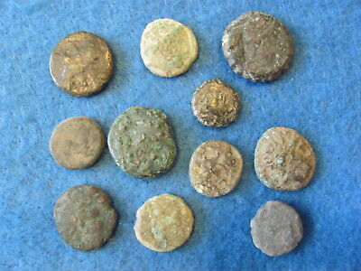 RARE Lot of (11) Greek coins 3rd -1st cent. B.C.
