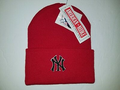 d4ff51288c43c Red MLB New York Yankees 3D Embroidered Knit Cuffed Beanie Skull Cap