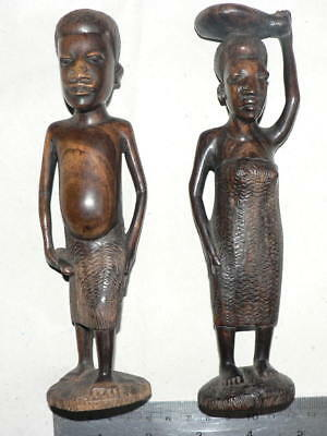 Vintage  Exotic  Wood Hand Carved Figures, Shipping All Over The World