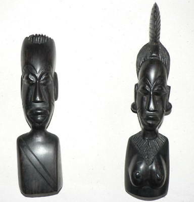Vintage  Ebony  Wood Hand Carved Figures, Shipping All Over The World