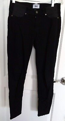 Paige Verdugo Ultra Skinny Maternity pants, 27, side panels, black