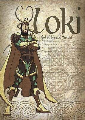 139031 LOKI GOD OF LIES AND MISCHIEF Wall Print Poster Affiche