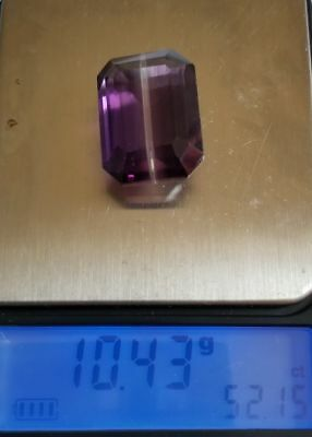 *US***SELLER* 52.15 Cts Ametrine 100% Natural Origin Brazil Emerald Cut Gem