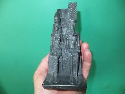 Beautiful Ancient Egyptian Gods Amun & Mut Statuette (Repro).