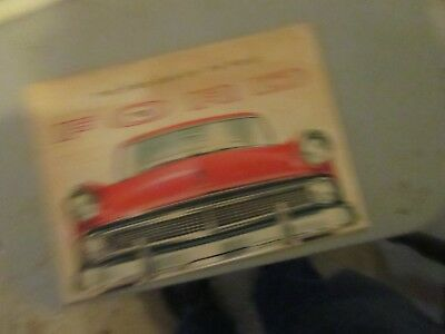 1955 ford sales brochere stained discolored good condition
