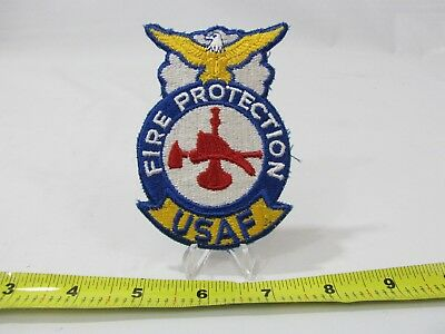 Vintage Usaf United States Air Force Fire Protection Patch 7 99