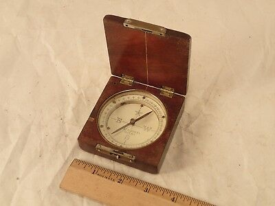 1800's W. & L. E. GURLEY, TROY, NY, No. 1133 Gentleman's Mahogany Pocket Compass