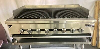 "48"" Char Broiler Grill 3 Burner Charbroiler Radiant Natural LP NEW 4' HEAVY DUTY"