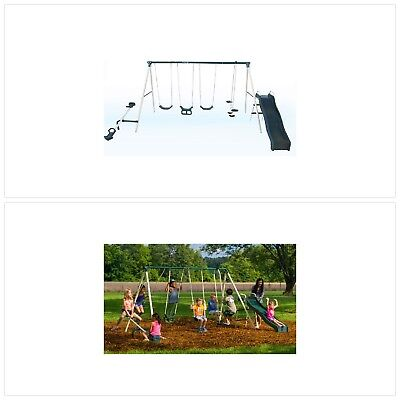 Flexible Flyer Backyard Swingin Fun Metal Swing Set 252 81