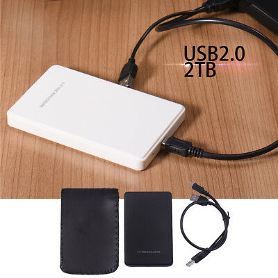 "2.5"" Inch 2TB Sata USB 2.0 Hard Drive HDD Enclosure External Laptop Disk Case"