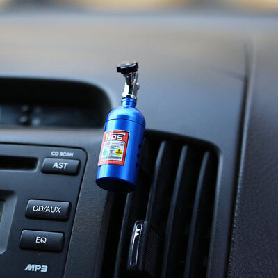 NOS Bottle Car Auto Air Freshener Refill Vent Clip Decoration With Box 63×18mm