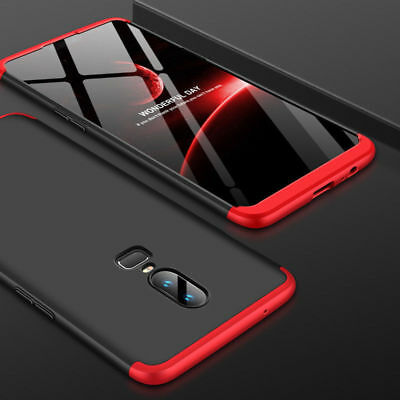 For OnePlus 6 360° Full Coverage Hybrid Shockproof Armor Hard Back Case Cover