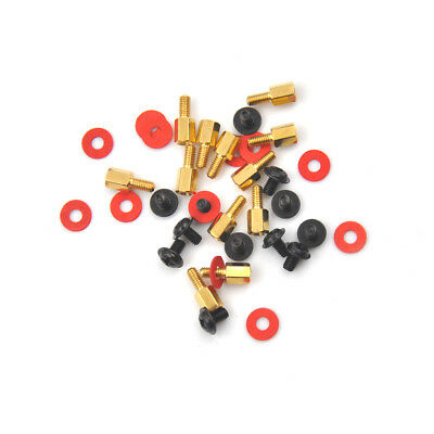 12pcs Computer Screws Motherboard Standoffs/ Screws/ Washers Kit SRAU
