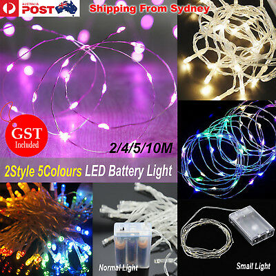 2/3/4/5/10m Battery Powered Operated String Fairy Light Party Wedding Christmas