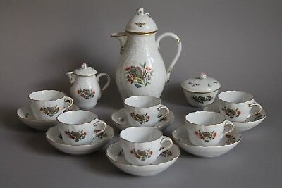 15 pc Meissen Kakiemon Chinese Butterfly Demitasse Coffee Set for 6 - Excellent