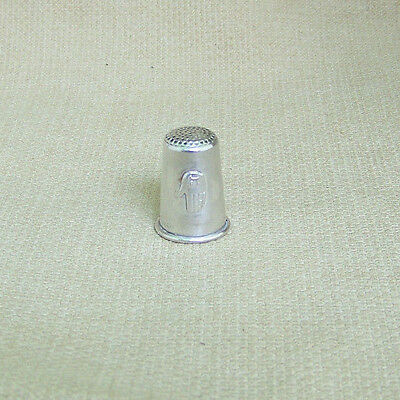 Vintage Sterling Silver Thimble Jewish Made In Israel Hebrew