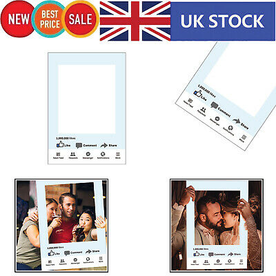 Facebook Social Media Selfie Frame Photo Booth Props Happy Birthday Paper Party