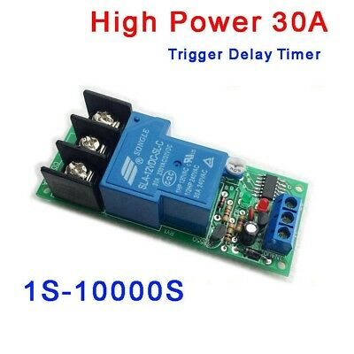DC12V 24V High Power 30A Trigger Delay Timer Switch Turn ON//Off Time Relay Board