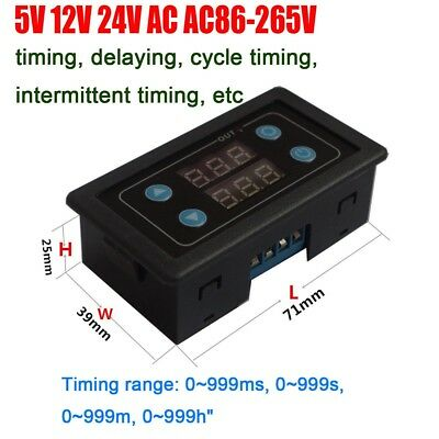 Digital time relay timing delay cycle control relay Switch 5V 12V 24V 110V 220V