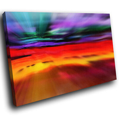 ZAB782 Retro Colourful Cool Modern Canvas Abstract Home Wall Art Picture Prints