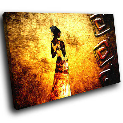 ZAB1337 Black Yellow Grey Modern Canvas Abstract Home Wall Art Picture Prints