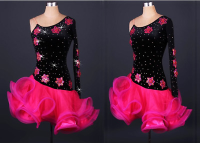 Ballroom Women's Lady's Latin Tango Salsa Samba Competition Dance Dress