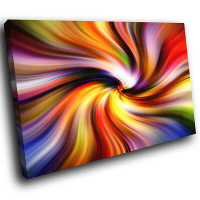 ZAB1273 Colourful Retro Cool Modern Canvas Abstract Wall Art Picture Prints