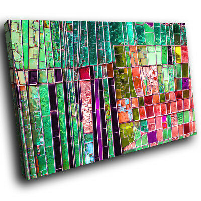 ZAB1451 Colourful Cool Funky Modern Canvas Abstract Wall Art Picture Prints