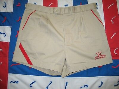 JIMMY CONNORS TENNIS SHORTS size 36 Vintage RED STRIPE Short Shorts