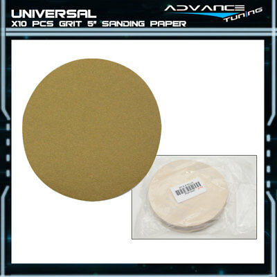 Disc 80 Grit 5 PSA Auto Sanding Paper Sheets Repair Sandpaper Magic Tape 10Pcs