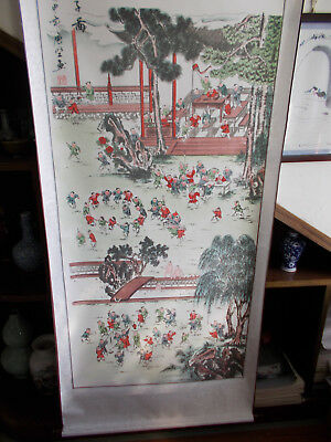 Chinese scroll painting - hundred son diagram 百子图