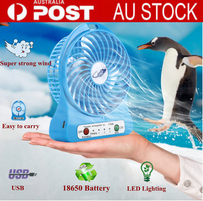 Rechargeable Battery Operated Clip on Mini Desk Fan Stroller Fan with USB Fan HY