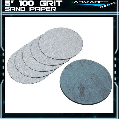 10PC 5Inch 127mm 100 Grit Auto Sanding Disc No Hole Sandpaper Sheets Sand Paper