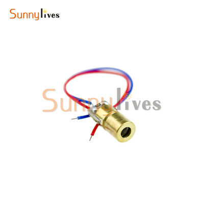 2PCS 3-5V 650nm Laser Dot Diode Module Copper Head Diode Red Laser Circuit