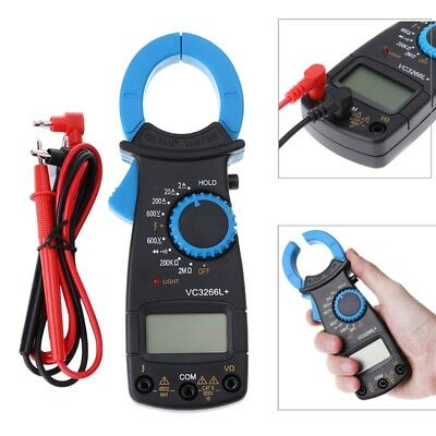 VC3266L+ Digital Clamp Multimeter AC DC Voltage Amp Ohm Electronic Tester Meter