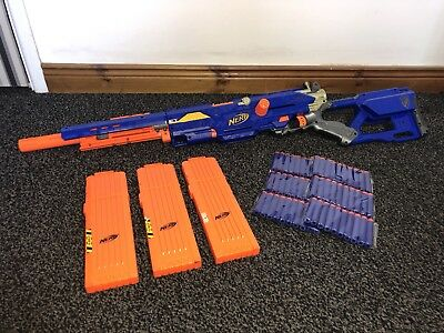 Nerf N-Strike Longstrike CS-6 Sniper Rifle Gun With 3 Cartridges + 60 Darts