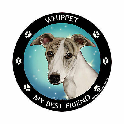 My Whippet Is My Best Friend Dog Car Magnet