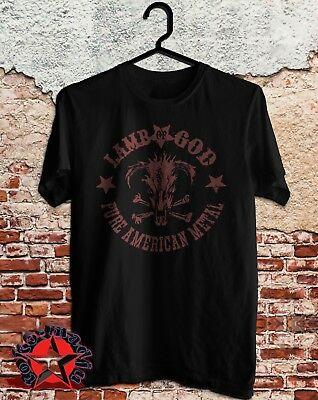 new LAMB OF GOD Tour Logo mens Fruit Of The Looms size S to 3XL