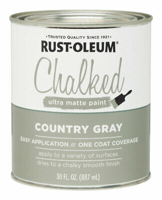 Rust-Oleum  Chalked  Country Gray  Chalk Paint  1 oz.