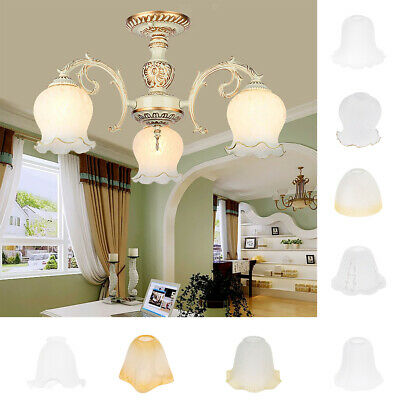Glass Hanging Light Lampshade Bedside Lamp Light Shade for Bedroom