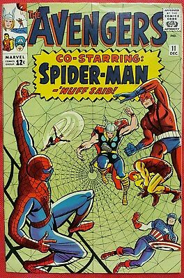 AVENGERS 11 Marvel Silver Age 1964 First appearance of the Spider-Man Robot nmt-