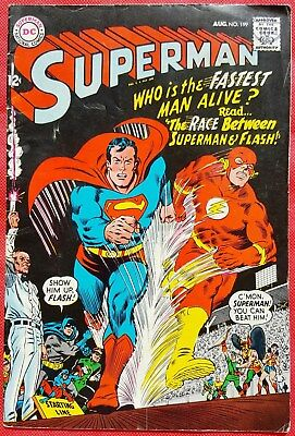 Superman 199 DC Silver Age 1967 First Superman/Flash race